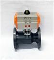Q641S-10 DN100耐腐蚀气动塑料法兰球阀